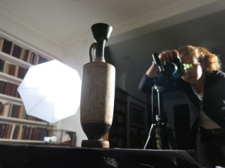 Keats photographing objects at the Freud Museum as a case study.