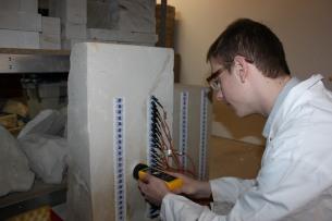 Scott investigates measurement tools for moisture in stone.