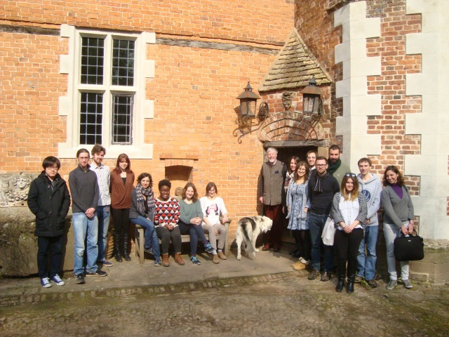 The UCL ISH group alongside Adam Munthe, the owner of Hellens.