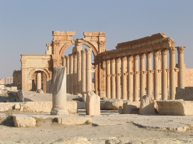 5. The Palmyra Arch, destroyed in 2015. A part of it is due to be reconstructed in London this April by the Institute of Digital Archaeology. http://digitalarchaeology.org.uk/