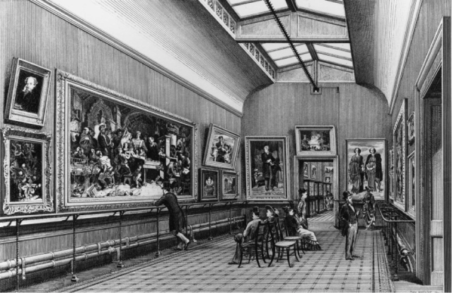 The Sheepshanks Gallery, South Kensington Museum (1876). Courtesy of the Victoria and Albert Museum.